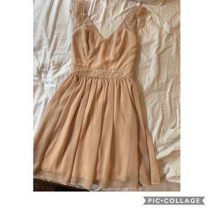 Petite mini blush dress